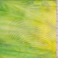Lemon Lime Metallic Wave Activewear